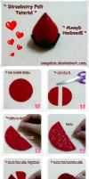 Strawberry felt Tutorial.. by SongAhIn