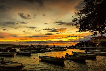 Sunset Port Starigrad Croatia by rudoma