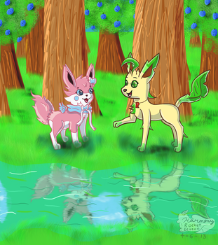 Visiting Aroma Forest {Contest Entry} by HarmonyRocketEeveon