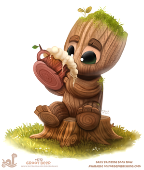 Daily Paint 1773# Groot Beer by Cryptid-Creations