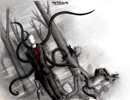 Drawing Slender by PastaNote