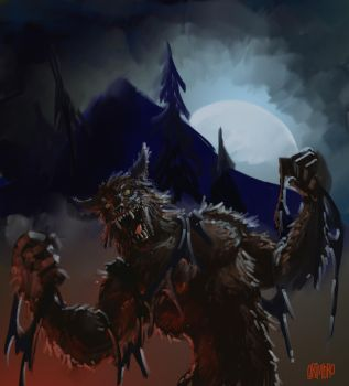 SPEED PAINT 'Werewolf' by Grimbro