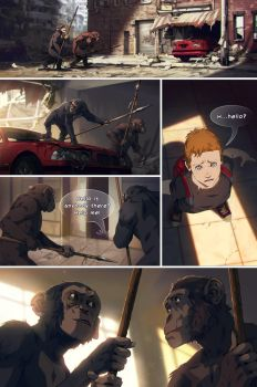 Planet of the Apes comic page by akreon