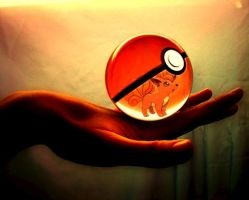 Vulpix pokeball by fatesfanforever9