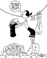 OLIVE OYL DOING LAUNDRY by JayFosgitt