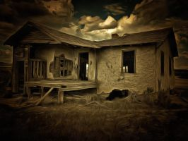 Abandoned House by oldhippieart