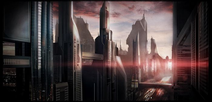 Sci-fi speed painting by Dave-DK