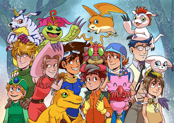 Digimon Adventure by GreenLiquidBrain