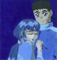 Memories in Shades of Blue - Tenchi and Ayeka by SpikesLittleSister