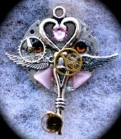 Steampunk Pink Pendant 2 by Lucky978
