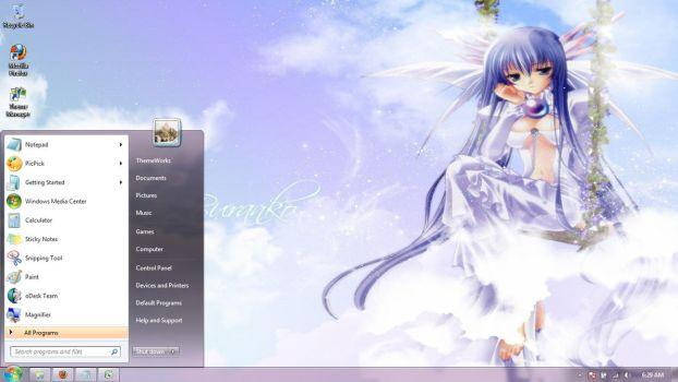 Anime-girls-35 Windows 7 theme by windowsthemes