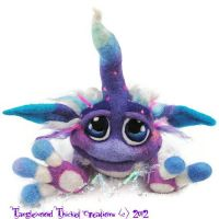 Boysenberry Swirl Cupcake Goblin by Tanglewood-Thicket