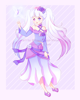 [Commisson] Ice Mage by Kawaii-Says-Meow