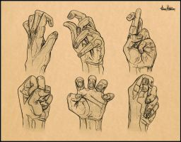Detailed Hand Study - In Action. by AaronMetallion