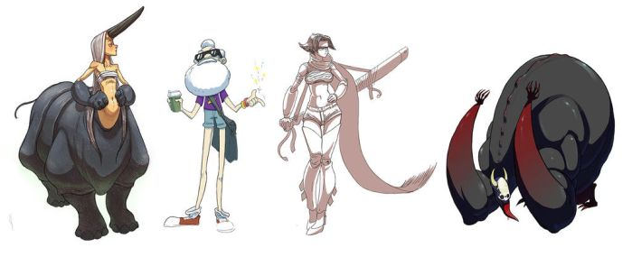 Rad class character designs by Downbyzed