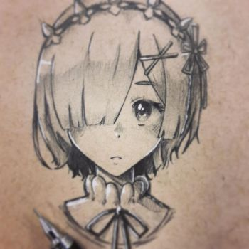 Rem, Re Zero (Fan art... Again) by Periphone