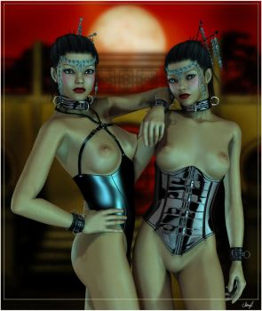 Twin Dollz by subvirgins