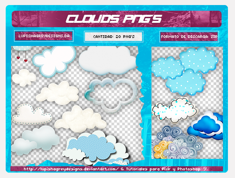 +CLOUDS PNGS by LupishaGreyDesigns