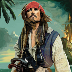 Jonny Depp Pirate by Artydavid