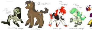 My Little Rejected Ponies by GirGrunny