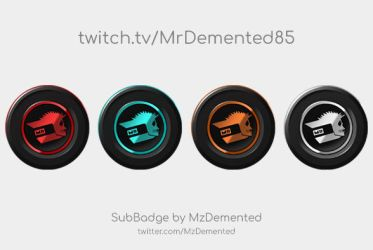 Twitch Sub Badges for MrDemented85 by MzDemented