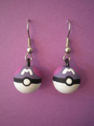 Master Ball Earrings by Omonomopoeia