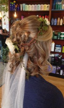 Medieval Wedding Hairstyle Trial 1 by ClassyNerd16
