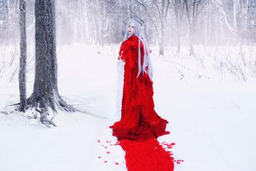 White Snow, Red Cloak by alberti
