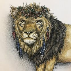 Lion of the Wilderness // watercolor by MajesticPaula