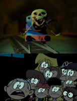 Loud Siblings Scared of Shed 17 Thomas by TDGirlsFanForever