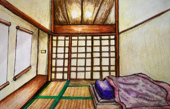 Japanese bedroom by Andailite47