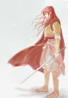 Maedhros in Himring by MintKim