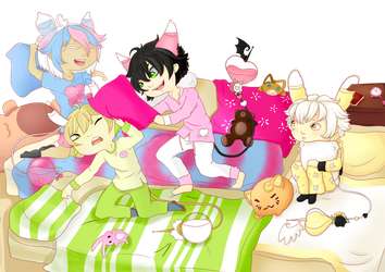 Sleepover prompt collab by Eisschweif