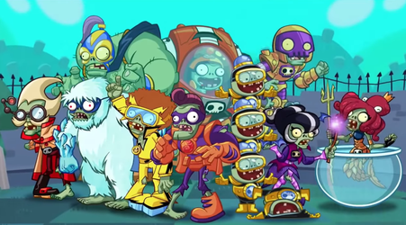 Plants vs Zombies Heroes Wallpaper (zombies) by NecromancerKing85