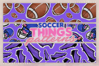 PATTERNS | SOCCER THINGS by DearTeddybear