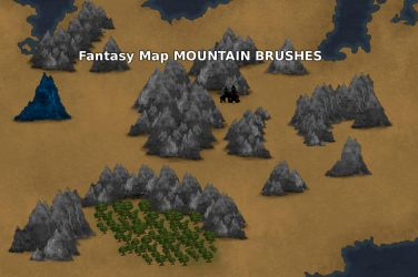 Jagged Mountain Range Brushes by Starcave by Starcave