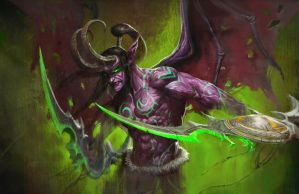 Illidan Stormrage by longai