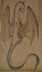 Dragon on Cardboard by SaltAddict