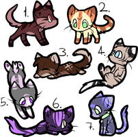 cat adopts (4/7 open) by Its-Arrogance