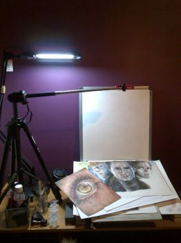 My drawing set up by KirstyPartridgeART