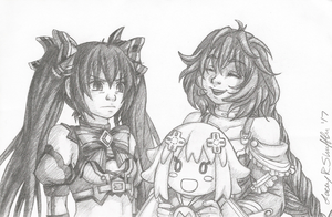 Noire and Plutia - Dial-P-For-Placey by ffbros