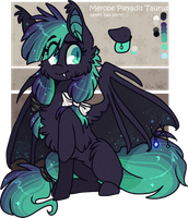 AUCTION : Blue-turqoise / bat-asteri pony (closed) by D-Dyee
