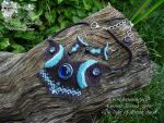 Necklace and earring The light of distant stars by LadyLunarCat