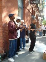 Acapella band in NY city by Eliana-Prog