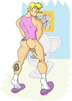 Fred - Morning in the Toilet by Kim-Possible333