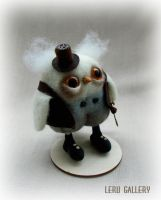 Steampunk owl. Art doll LeRu Gallery by LeRuGallery