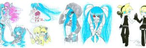 Vocaloid doodles by cold-angle