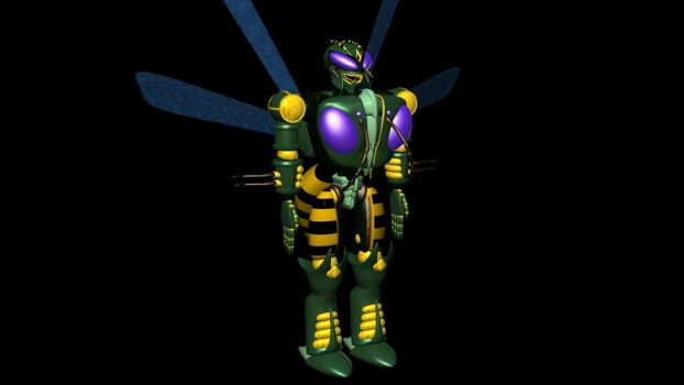 Wishmaster's Waspinator, fully textured by XSilverboltX