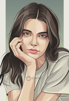 Kendall jenner vector portrait by Ncepart28