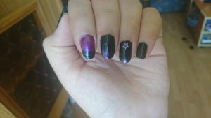Simple dark nails by Anonymous---Lucifer